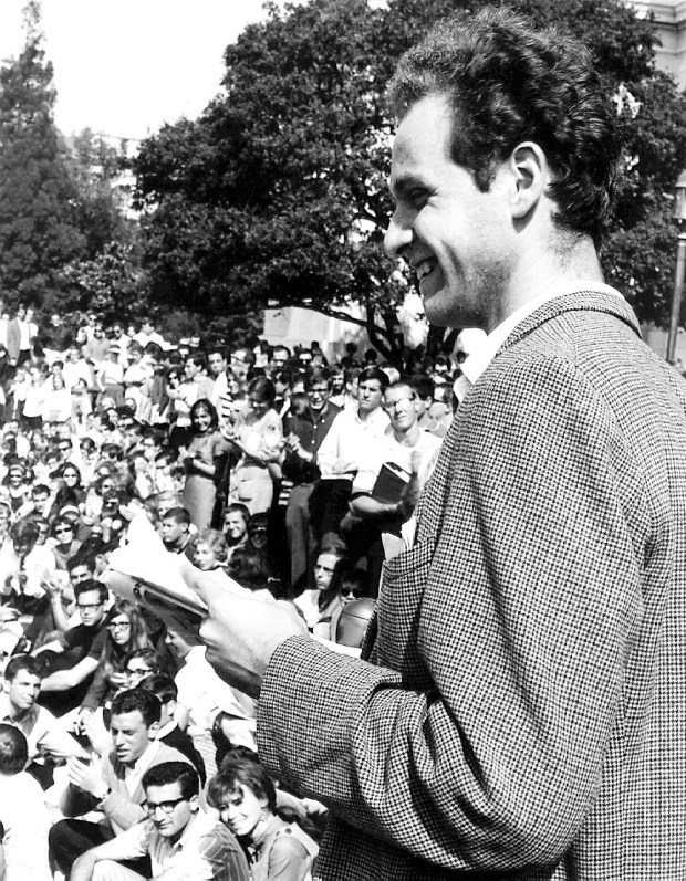 file photo 8/11/99 Tribune News1964 Ron Riesterer file photo of Mario Savio at Sproul Hall during the free speech movement.