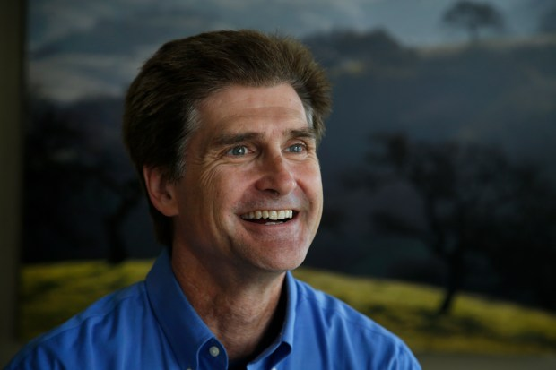 Carl Guardino, president and CEO of the Silicon Valley Leadership Group, poses for a photograph, Monday, Aug. 14, 2017, at his office near the airport in San Jose, California. (Karl Mondon/Bay Area News Group)