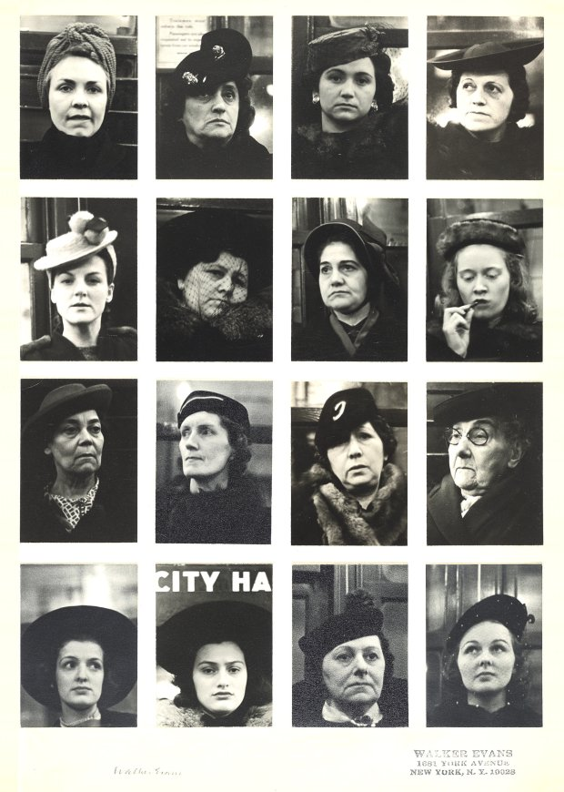 "Walker Evans, ""Subway Portraits,"" 1938-1941. (© Walker Evans Archive,Metropolitan Museum of Art, New York)"