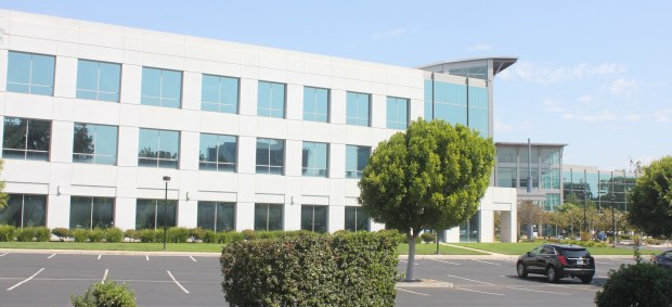 A NetApp building at 475 E. Java Drive in Sunnyvale, one of three that Google agreed to buy from NetApp.