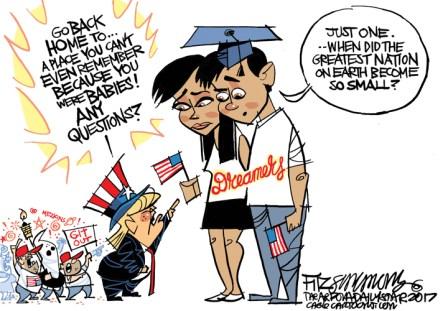Cartoons: Trump administration ends DACA