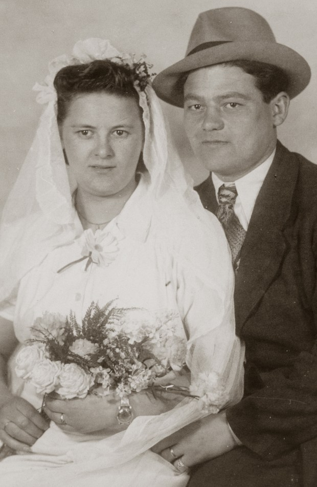 Helen Kielmanowicz, left, and Ben Stern, both Holocaust survivors, were married in October 1945 in Germany. They later emigrated to the United States. (Courtesy of the Stern family)