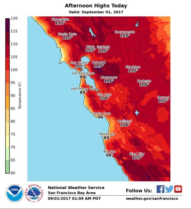 San Francisco Hits Record 106 Degrees