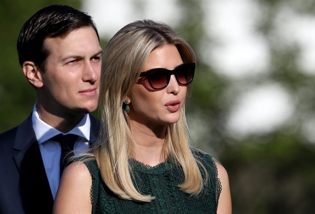 WASHINGTON, DC - SEPTEMBER 11: U.S. Ivanka Trump and Jared Kushner arrive for a ceremony on the South Lawn of the White House marking the September 11 attacks September 11, 2017 in Washington, DC. Today marks the 16th anniversary of the attacks that killed almost 3,000 people and wounded another 6,000. (Photo by Win McNamee/Getty Images)
