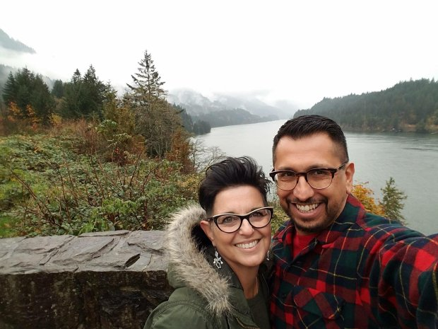 Michael and Raya Marquez escaped the bustle of the Bay Area in 2015 forPortland. Here they are at the Cape Horn Lookout overlooking The Gorge. (Courtesy Raya DeMarquez)