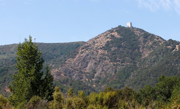 On the summit of Mount Umunhum near Los Gatos, California, on Monday, Sept. 11, 2017. The Midpeninsula Regional Open Space District officially opens a new park at the summit to the public following more than six years and $25 million of planning, demolition, construction and rebuilding the five-mile-long road to the top. (Gary Reyes/ Bay Area News Group)