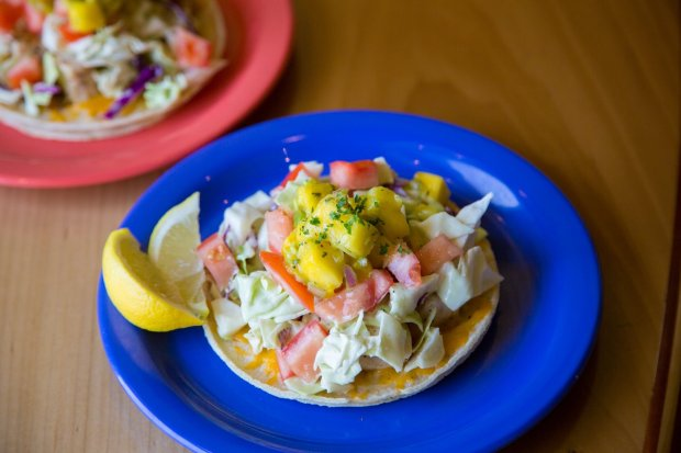 The seven-layer tacos at Coconut's Fish Cafe have won accolades from Travel& Leisure. (Photo courtesy of Coconut's Fish Cafe)