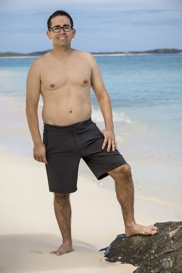 """Mike Zahalsky, will be one of the 18 castaways competing on SURVIVOR this season, themed """"Heroes vs. Healers vs. Hustlers,"""" when the Emmy Award-winning series returns for its 35th season premiere on, Wednesday, September 27 (8:00-9:00 PM, ET/PT) on the CBS Television Network. Photo: Robert Voets/CBS �?�2017 CBS Broadcasting, Inc. All Rights Reserved."""