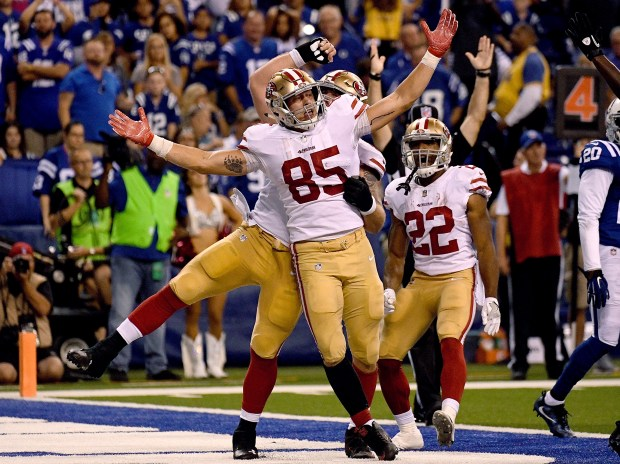 97758a938 49ers' George Kittle: Beyond WWE fandom, tight end a character