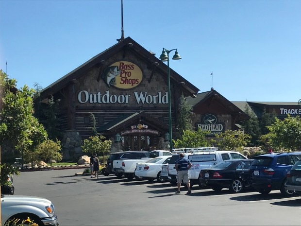 The Bass Pro Shops is photographed in Rocklin, Calif., on Saturday, Oct. 7, 2017. Las Vegas shooter Stephen Paddock bought two shotguns and a rifle in October at the store. (Matthias Gafni/East Bay Times)