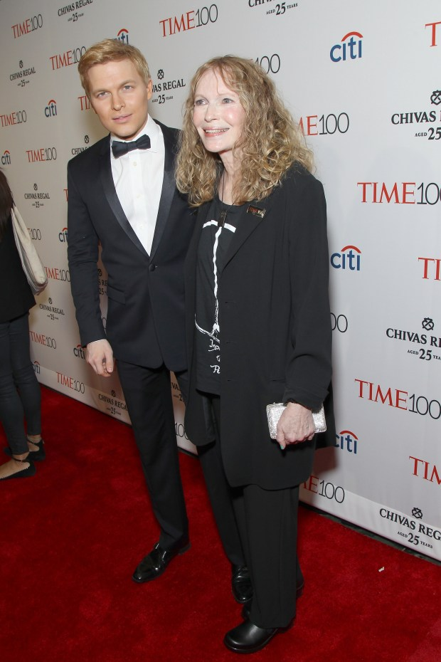 NEW YORK, NY - APRIL 21: Ronan Farrow and Mia Farrow attend the TIME 100 Gala, TIME's 100 Most Influential People In The World at Jazz at Lincoln Center on April 21, 2015 in New York City. (Photo by Bennett Raglin/Getty Images for TIME)