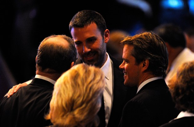 BEVERLY HILLS, CA - MARCH 27: (L-R) Producer Harvey Weinstein, actors Ben Affleck and Matt Damon attend the American Cinematheque 24th Annual Award Presentation To Matt Damon at The Beverly Hilton hotel on March 27, 2010 in Beverly Hills, California. (Photo by Kevork Djansezian/Getty Images)