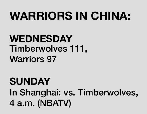 Five takeaways from the Warriors' loss to Minnesota in Shenzhen