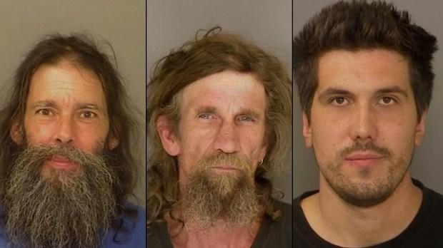 Bernard Haagenson, Michael Carter, Drake Geithner (Santa Cruz Co. Sheriff's Office)