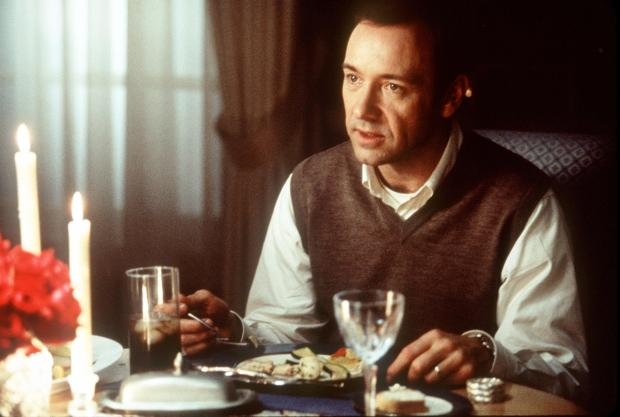 "374742 02: Lester Burnham (Kevin Spacey) Is Making Some Major Changes In His Typical Suburban Life In Dreamworks Pictures' ""American Beauty."" (Photo By Getty Images)"