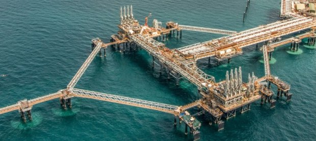 A section of Chevron's Gorgon liquefied natural gas project in westernAustralia that was posted on the Chevron web site. Chevron's profits jumped to $1.95 billion in the third quarter, fueled by curbs on spending and a geyser of money from major oil and gas projects, the company reported Friday. Credit: Chevron Corp.