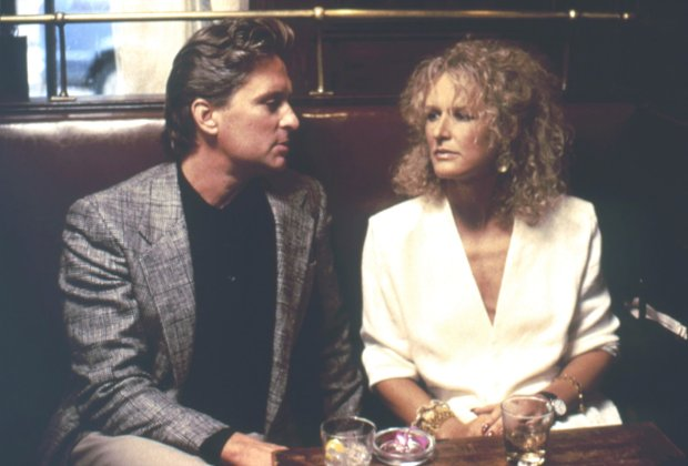 Michael Douglas and Glenn Close in Fatal Attraction (1987). (Warner HomeVideo)