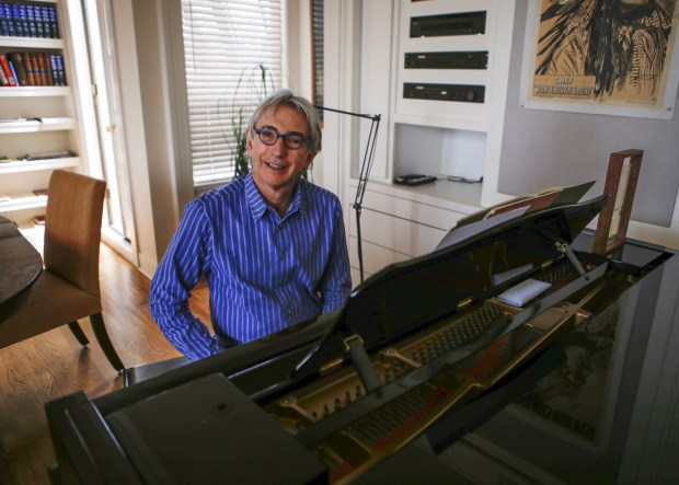 Michael Tilson Thomas at his home in San Francisco, Calif. on Friday Aug. 22, 2014. Thomas is beginning his 20th year as conductor and music director of the San Francisco Symphony.(John Green/Bay Area News Group)
