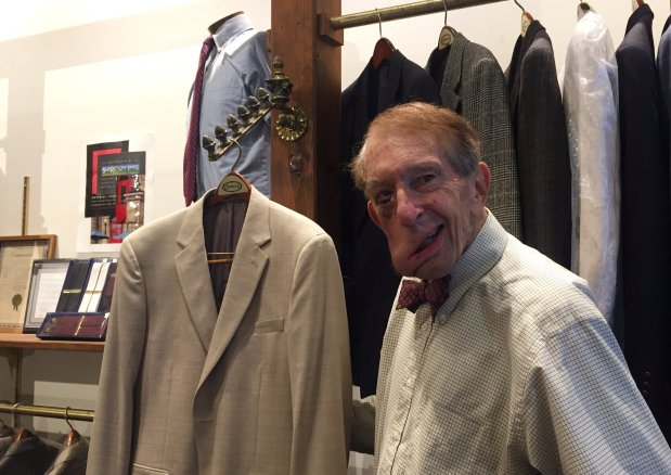 Ed Mosher, owner of Mosher's Ltd., says he's closing the men's clothingstore, which has been in business since 1955, for medical reasons. (Sal Pizarro/Bay Area News Group)