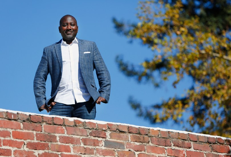 Abe Ankumah, Nyansa co-founder, is photographed at his headquarters in Palo Alto, California, on Wednesday, Oct. 4, 2017. Nyansa is a network analytics software company. (Gary Reyes/ Bay Area News Group)
