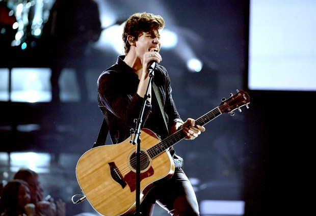 Shawn Mendes performs onstage during the 2017 American Music Awards at Microsoft Theater on November 19, 2017 in Los Angeles, California. (Photo by Kevin Winter/Getty Images)