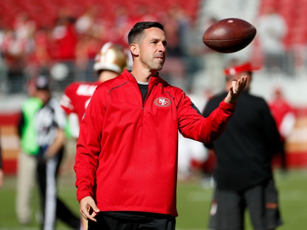 San Francisco 49ers head coach Kyle Shanahan is photographed on the field during warm-ups before game against Arizona Cardinals in their NFL game at Levi's Stadium in Santa Clara, Calif. on Sunday, Nov. 5, 2017. (Josie Lepe/Bay Area News Group)