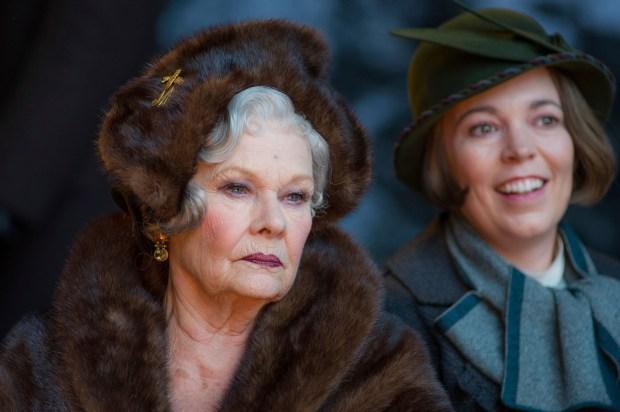 "Judi Dench, left, and Olivia Colman in ""Murder on the Orient Express."" (Nicola Dove/Twentieth Century Fox)"