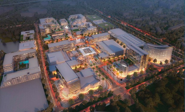 A rendering of City Place, a 240-acre mixed-use development near Levi's Stadium (photo courtesy of City of Santa Clara)