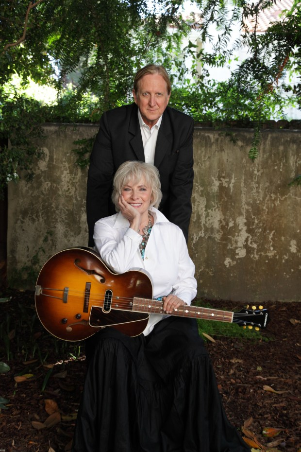 Broadway and screen star Betty Buckley with her longtime friend T Bone Burnett. Buckley will be at Stanford's Bing Concert Hall Studio on Dec. 1 and 20, 2017. (Myriam Santos photo)