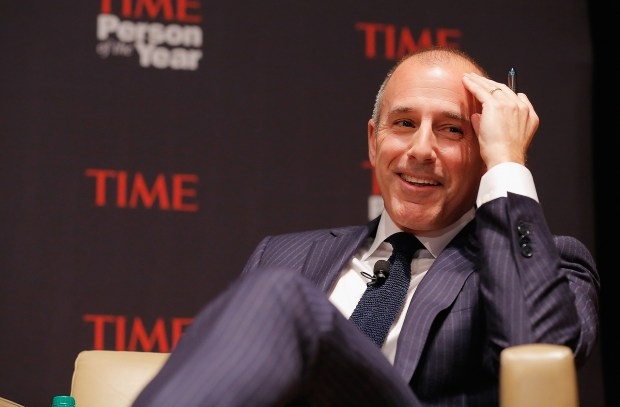 Matt Lauer attends TIME's Person of the Year panel on November 13, 2012 in New York City. (Photo by Jemal Countess/Getty Images for TIME)