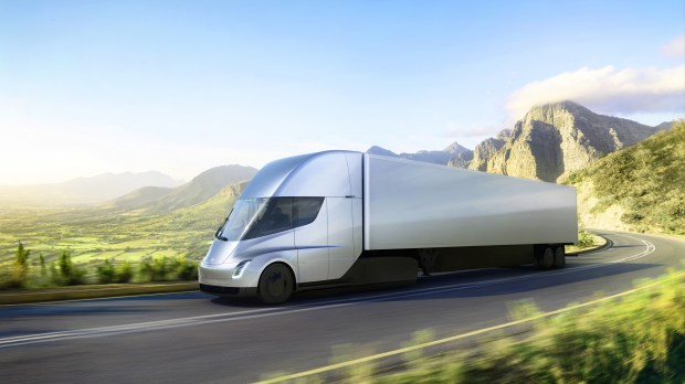 Tesla's new electric semi-truck, unveiled Nov. 16, 2017 (courtesy of Tesla)