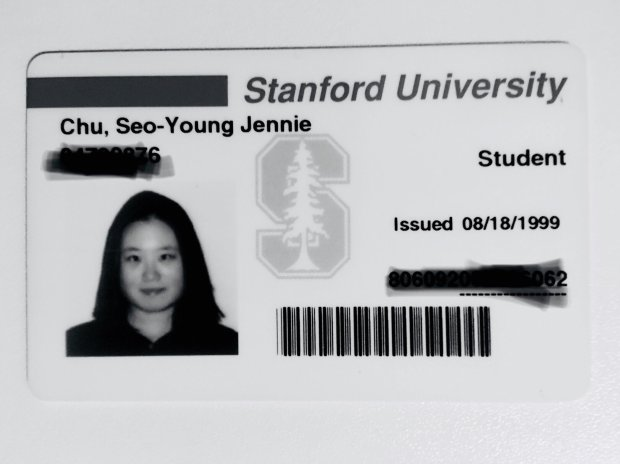 Seo-Young Chu's Stanford University student identification card (Courtesyof Seo-Young Chu)