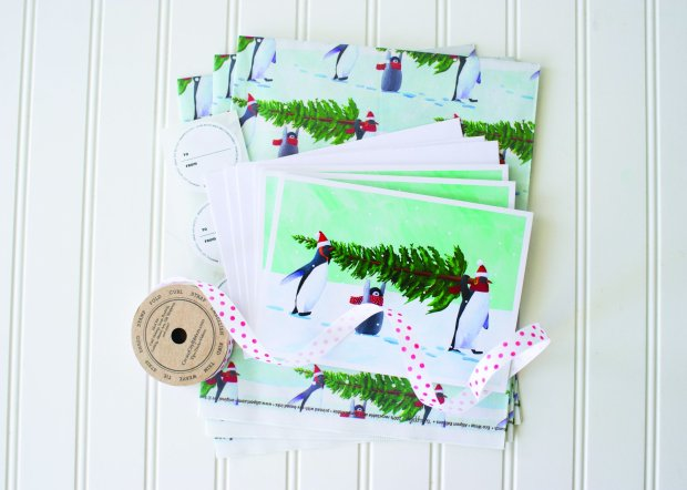 Those interested in leaving a smaller footprint this holiday season canlook for cards that contain recycled content, such as those sold by Allport Editions. (Courtesy Allport Editions)