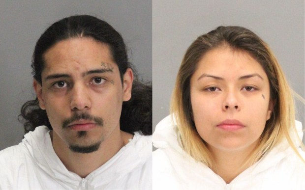 Jose Talavera, left, and Maritza Lopez Perez were arrested in connection with a Dec. 20, 2017 home-invasion robbery and assault at a home in unincorporated Los Gatos. (Santa Clara Co. Sheriff's Office)