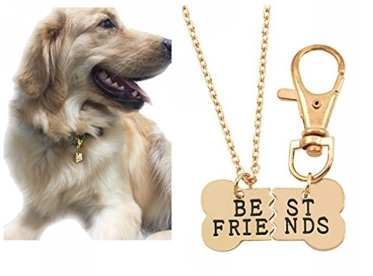 Best friends dog-dog owner necklace from 4EAELove. (Amazon.com )