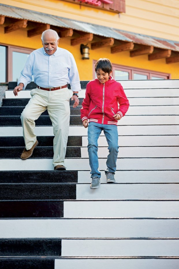 "The musical stairs at Pier 39 were created by the same artist that madethem for Tom Hanks' movie, ""Big"". Designed by Remo Saraceni, the musical stairs were installed at Pier 39 in 2013. (Photo: Courtesy of Pier 39)."