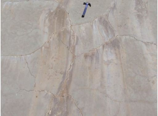 An engineering study completed in November 2017 found cracks in theconcrete spillway at Anderson Dam in Santa Clara County. (Santa Clara Valley Water District)