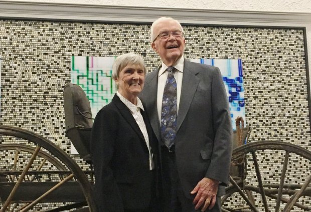 Peg and Lon Normandin were honored with the Distinguished Citizens Awardfrom the Silicon Valley/Monterey Bay Council of the Boy Scouts of America on Thursday, Nov. 30, 2017, at the Santa Clara Marriott. (Sal Pizarro/Bay Area News Group)