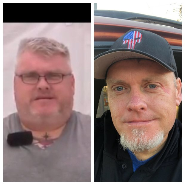 Bob Brandyberry before and after his weight loss journey (Bob Brandyberry)