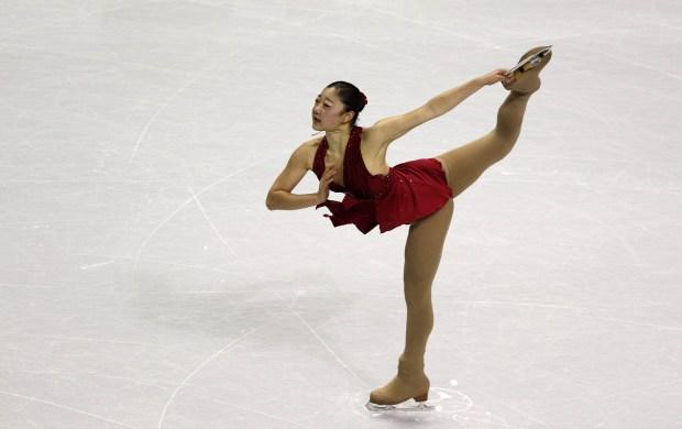 Mirai Nagasu performs during the 2012 Prudential U.S. Figure Skating Championships - Championship Ladies Short Program at HP Pavilion in San Jose, Calif., on Thursday, Jan. 26, 2012. (Josie Lepe/Staff)