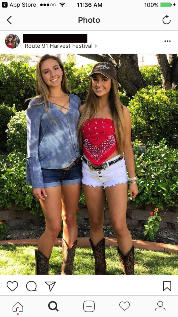 Summer Stadtlander and Marie Langer in a photo from Shea Turner's instagramaccount before the Route 91 Harvest Fest in Las Vegas. MUST CREDIT: Family photo for The Washington Post