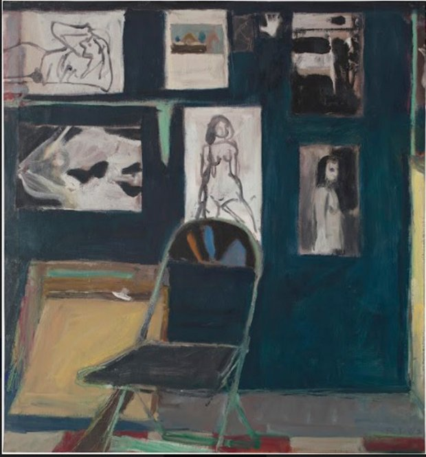 Richard Diebenkorn's Studio Wall (1963). (University of California,Berkeley Art Museum and Pacific Film Archive)