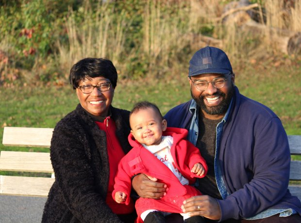 Dorothy Ngongang, her son Decker and her granddaughter Neale in December.(Courtesy of Dorothy Ngongang)