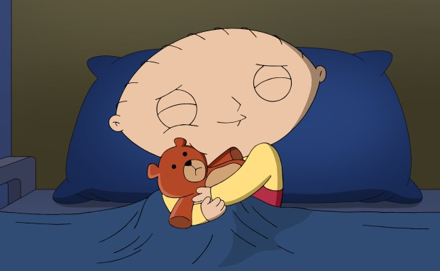 "FAMILY GUY: Stewie and Brian get into a friendship-ending fight after Brian commits a terrible act to one of Stewie's beloved toys in the ""Dog Bites Bear"