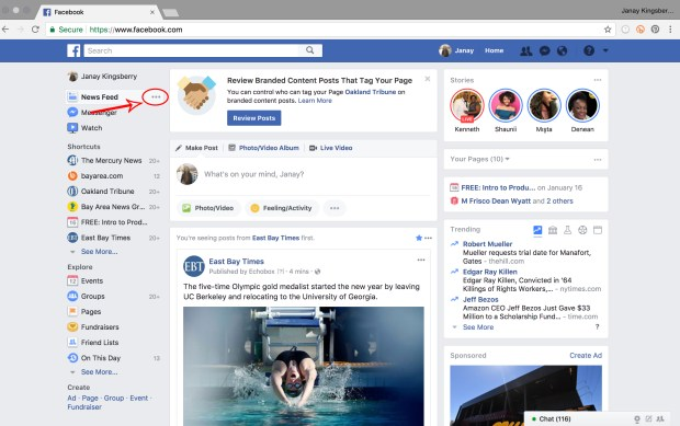 facebook home page image