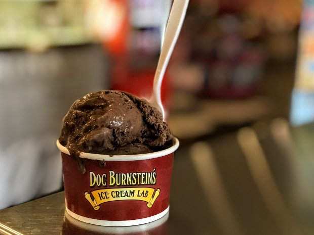 Driving through Kettleman City? Don't miss the Kahlua-spiked chocolateMotor Oil ice cream at Doc Burnstein's ice cream counter at Bravo Farms. (Courtesy of Mary Orlin)