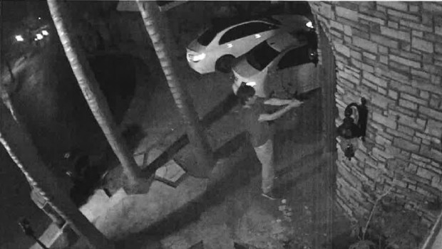 This surveillance image shows 24-year-old Mirza Tatlic moments before he shot and killed his ex-girlfriend's parents at their Willow Glen home on May 3, 2017. Tatlic was later shot and killed by San Jose police. (Santa Clara Co. District Attorney's Office)