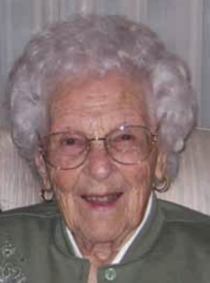 Beatrice Aikman worked as a receptionist for more than two decades duringthe formative years of the NASA Ames Research Center. She turned 105 on Jan. 11, 2018. (Photo courtesy Marylin Townsend Stuart)