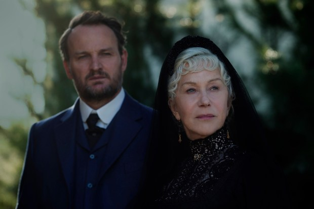 Doctor Eric Price as Jason Clarke and Helen Mirren as Sarah Winchester in 'Winchester.' (Ben King/Lionsgate)