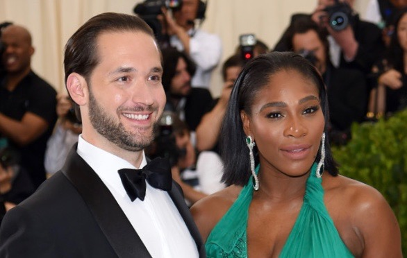 Alexis Ohanian and Serena Williams on May 1, 2017 in New York City. (Photo by Dimitrios Kambouris/Getty Images)